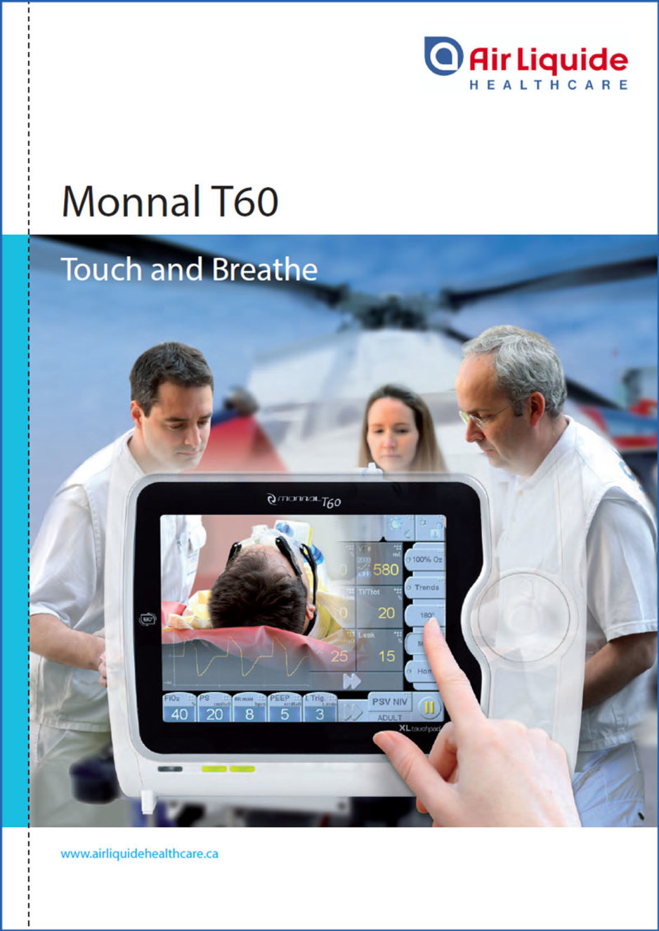 Learn more about the Monnal T60 ventilator brochure